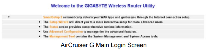 gigabyte router login 5