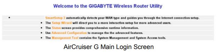 gigabyte router login 5