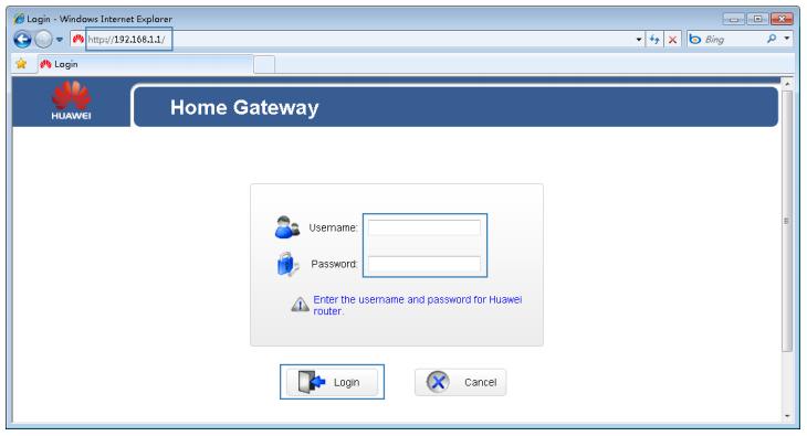 Huawei Router Admin Login Procedure