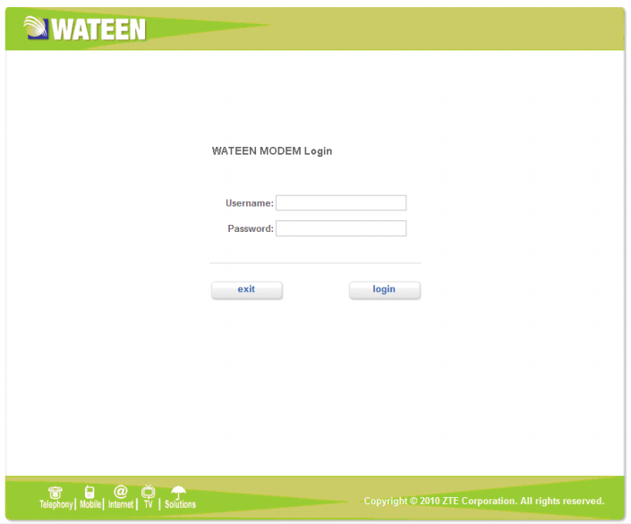 wateen router login 1